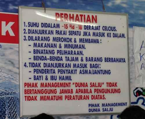 Peraturan Bandung Bersalju