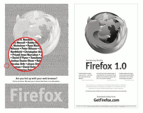 NY Times Firefox ad