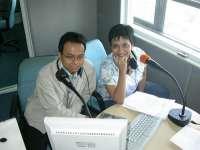 Saya dan Shahnaz Haque di DeltaFM