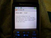 SMS dari Presiden